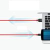 کابل تبدیل USB-C به 3.0 USB-A انکر مدل A8169 PowerLine plus طول 1.8 متر